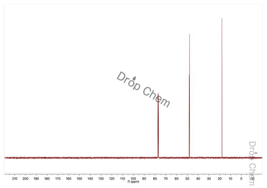 プロピレンオキシドの13CNMRスペクトル