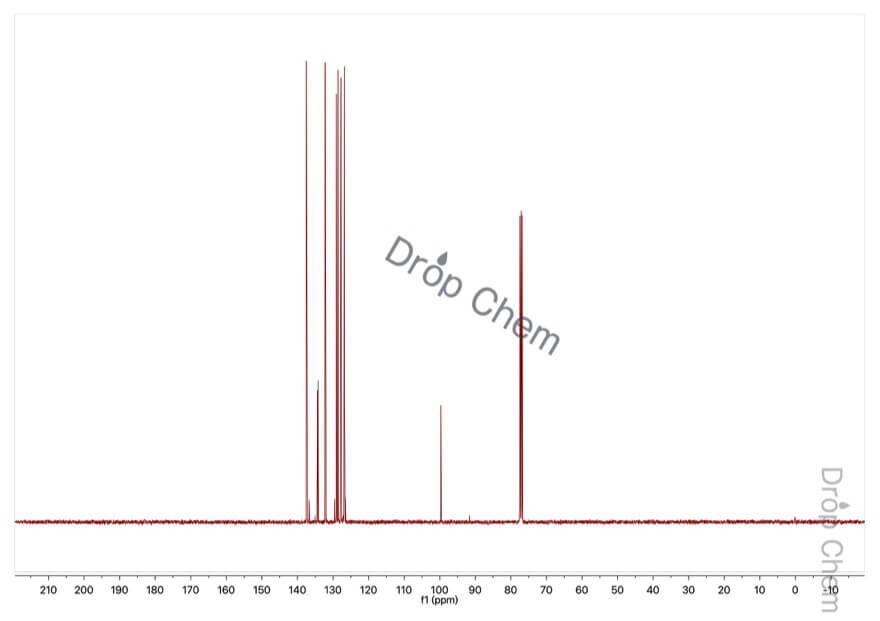 1-ヨードナフタレンの13CNMRスペクトル