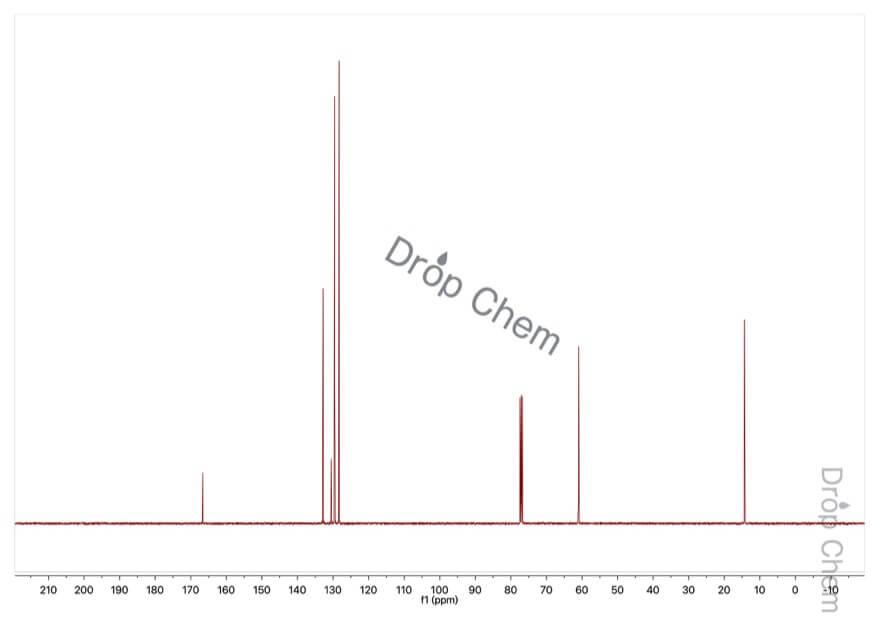 安息香酸エチルの13CNMRスペクトル
