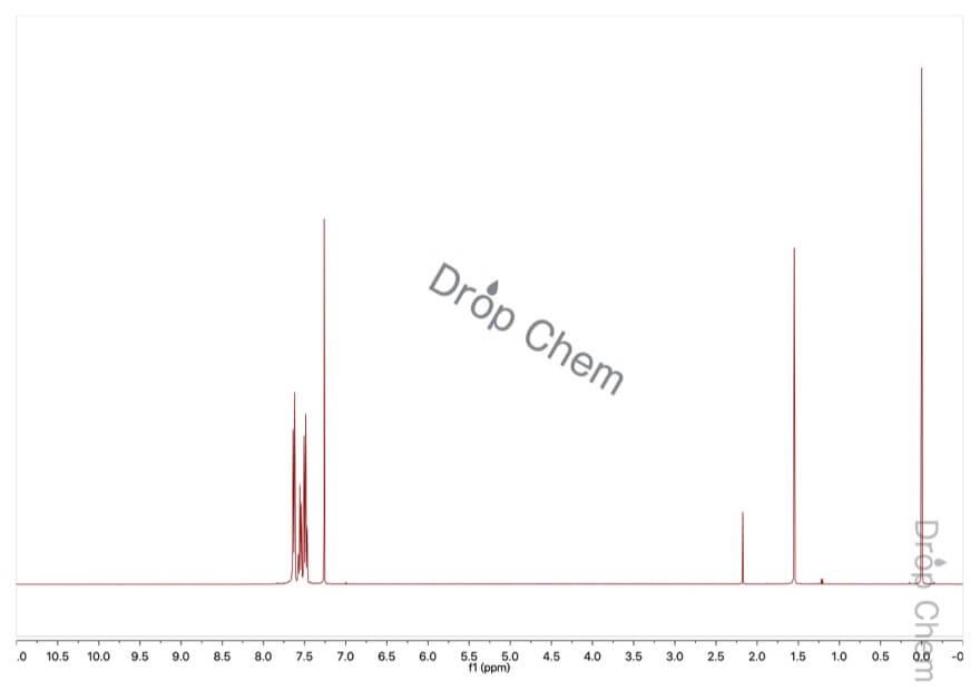 ベンゾトリフルオリドの1HNMRスペクトル
