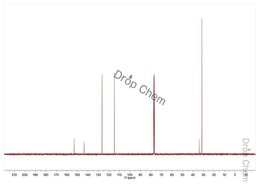 4-tert-ブチルフェノールの13CNMRスペクトル