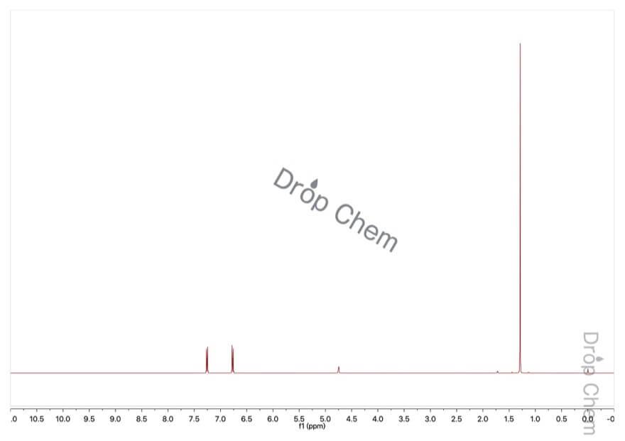 4-tert-ブチルフェノールの1HNMRスペクトル