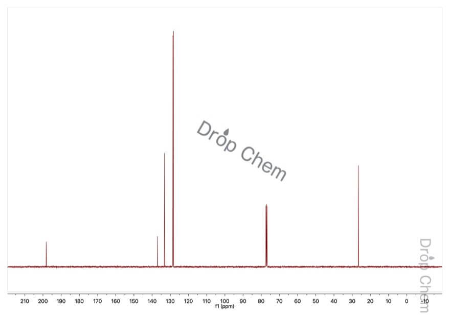 アセトフェノンの13CNMRスペクトル