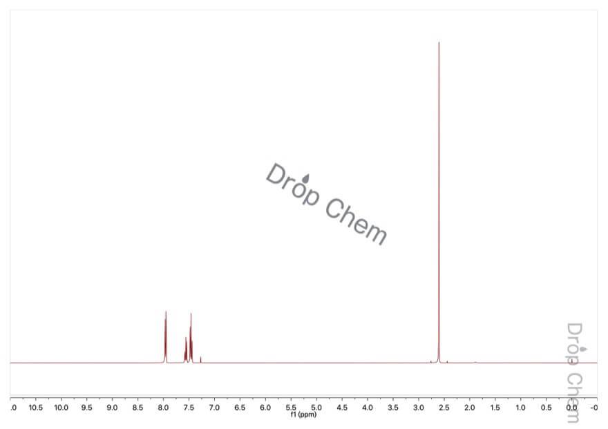 アセトフェノンの1HNMRスペクトル