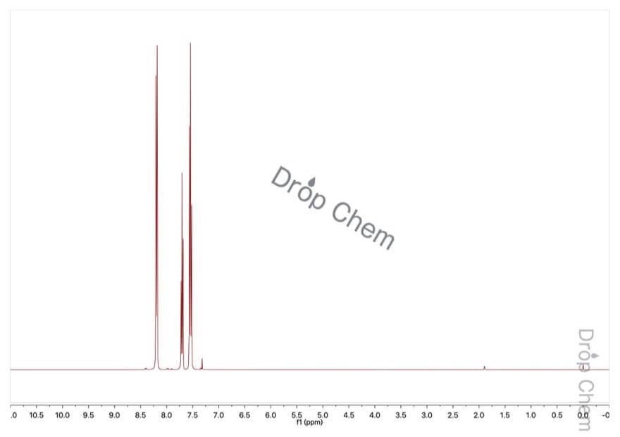 ニトロベンゼンの1HNMRスペクトル