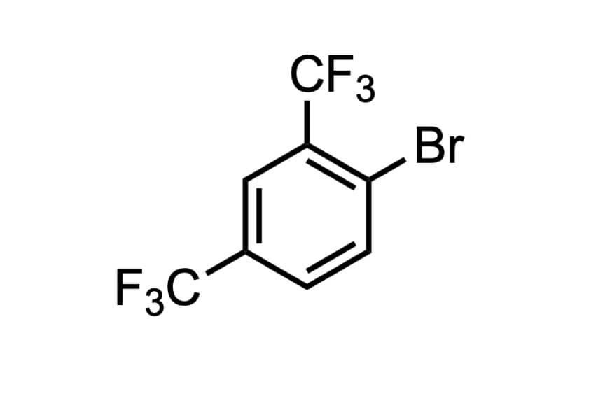1-ブロモ-2,4-ビス(トリフルオロメチル)ベンゼンの構造式