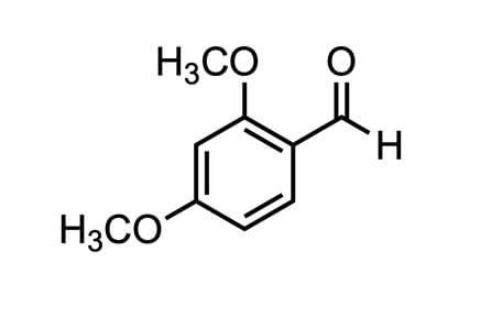 2,4-ジメトキシベンズアルデヒドの構造式