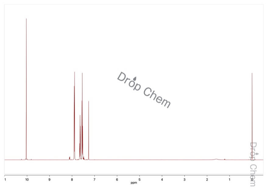 ベンズアルデヒドの1HNMRスペクトル