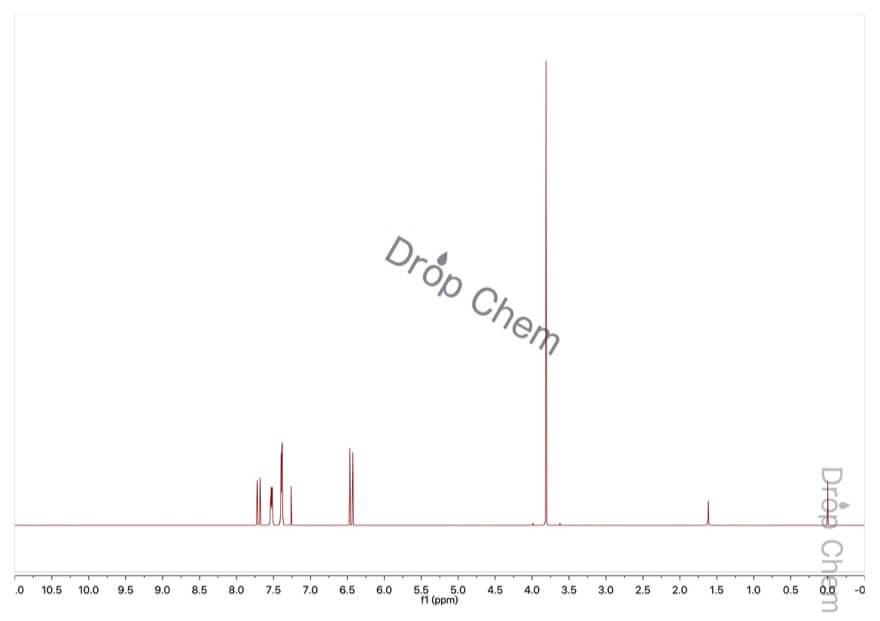 けい皮酸メチルの1HNMRスペクトル