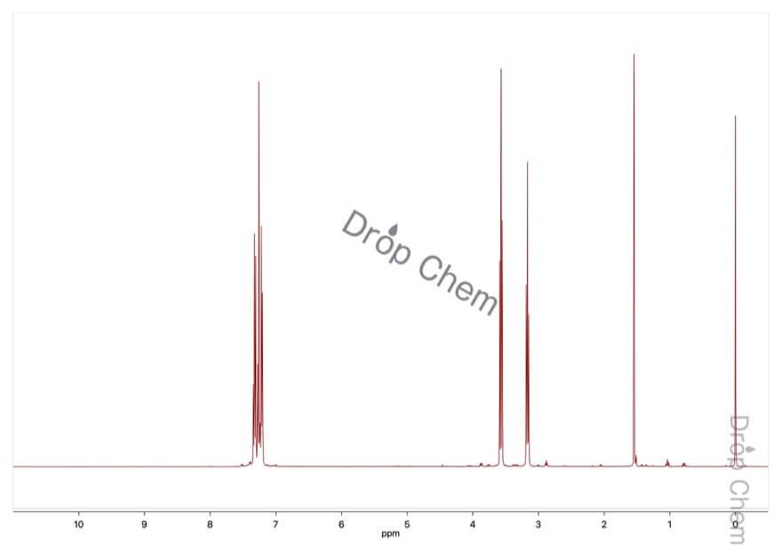 (2-ブロモエチル)ベンゼンの1HNMRスペクトル