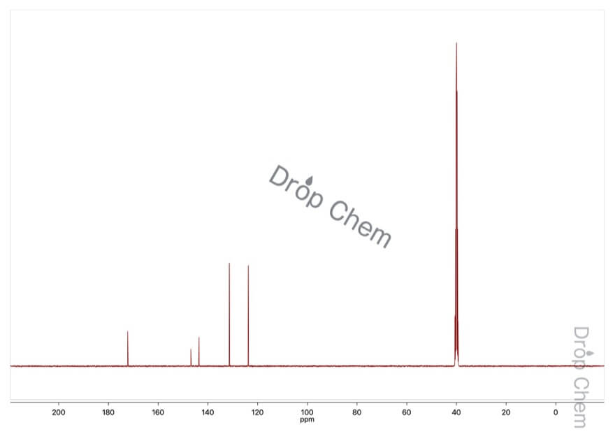 4-ニトロフェニル酢酸の13CNMRスペクトル