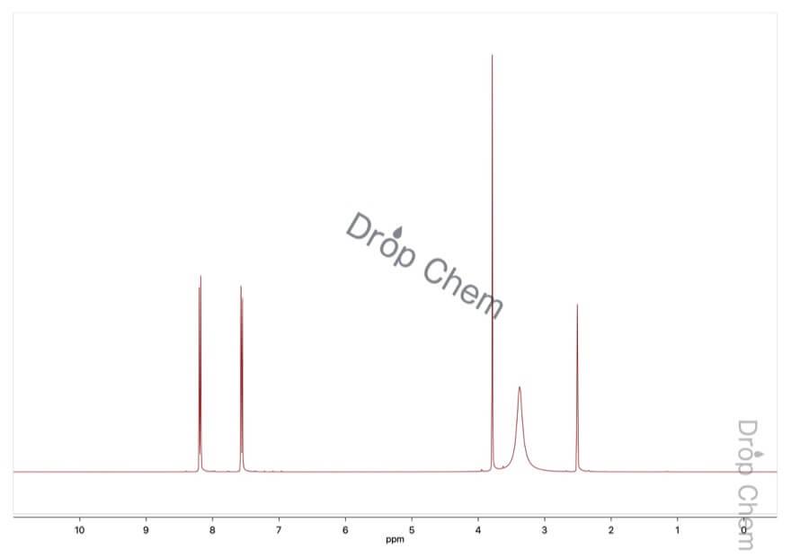 4-ニトロフェニル酢酸の1HNMRスペクトル