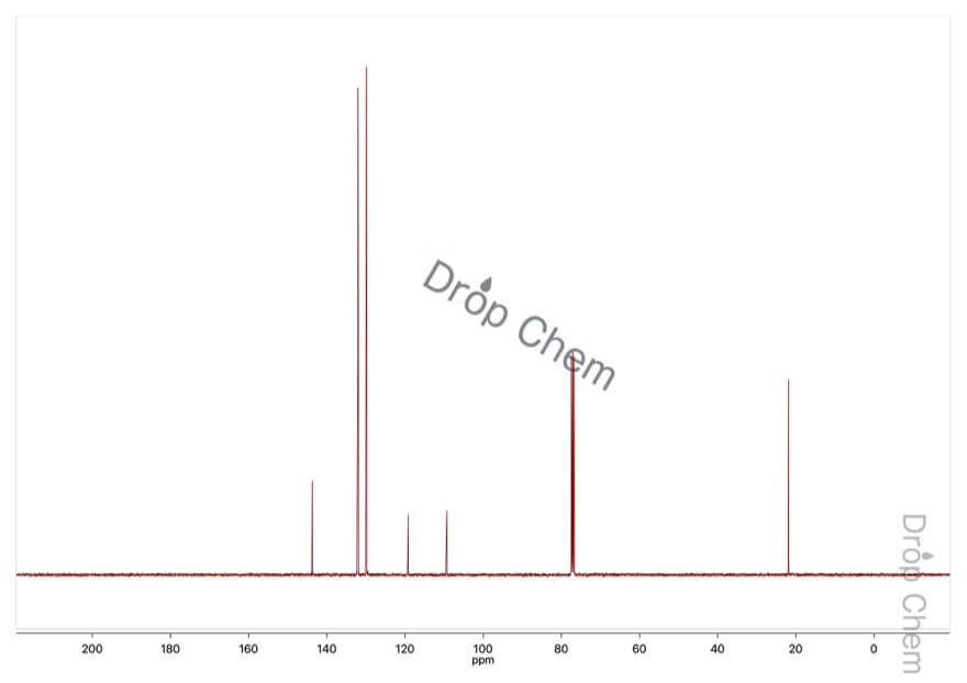 p-トルニトリルの13CNMRスペクトル