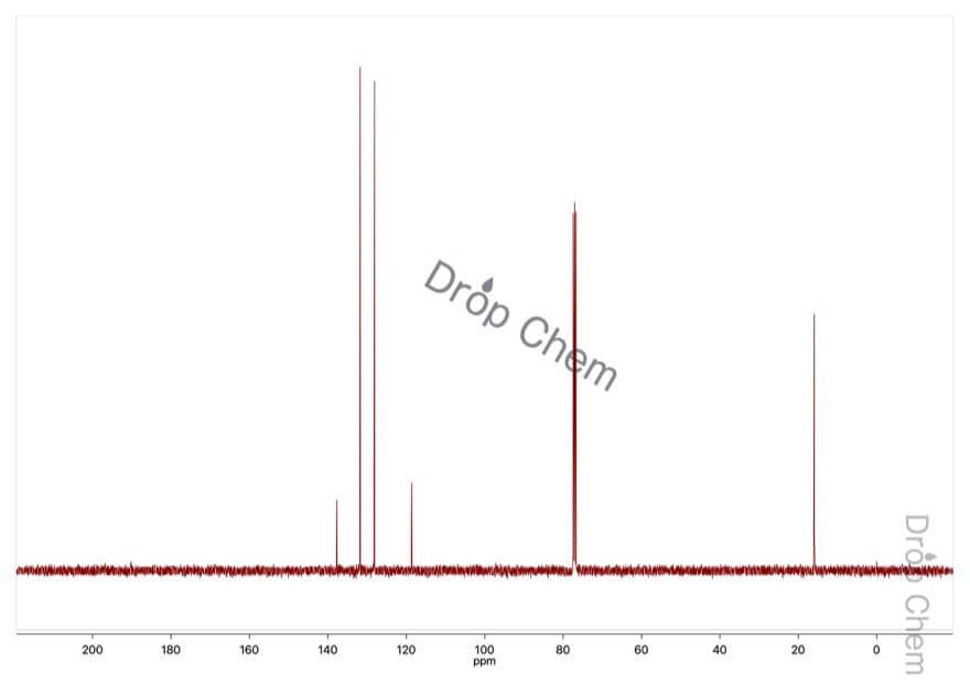 4-ブロモチオアニソールの13CNMRスペクトル