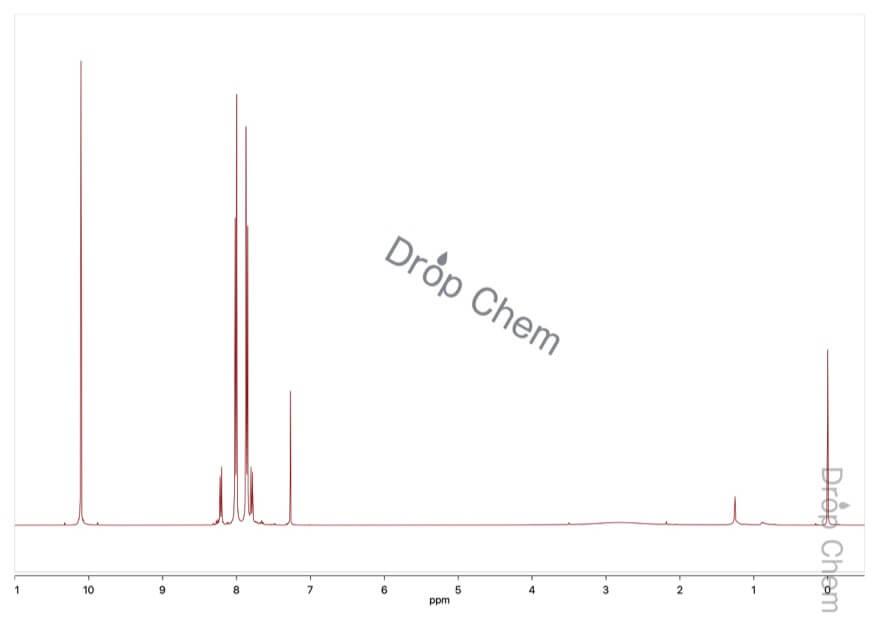 4-ホルミルベンゾニトリルの1HNMRスペクトル