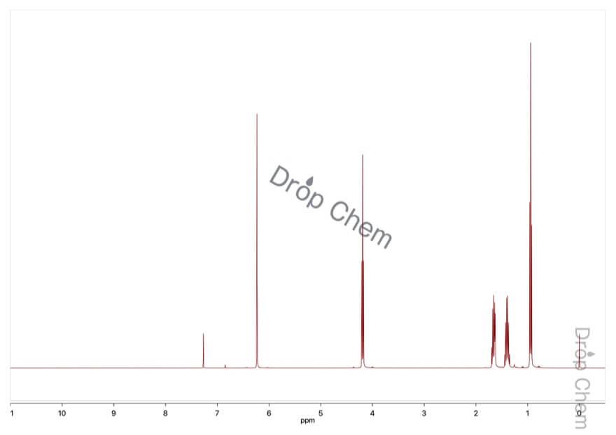 マレイン酸ジブチルの1HNMRスペクトル