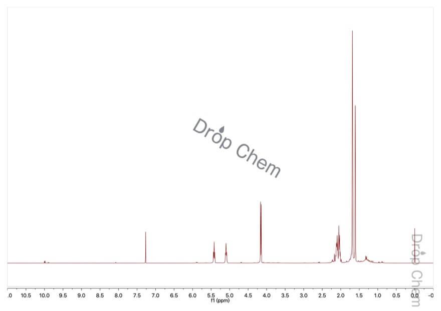ゲラニオールの1HNMRスペクトル