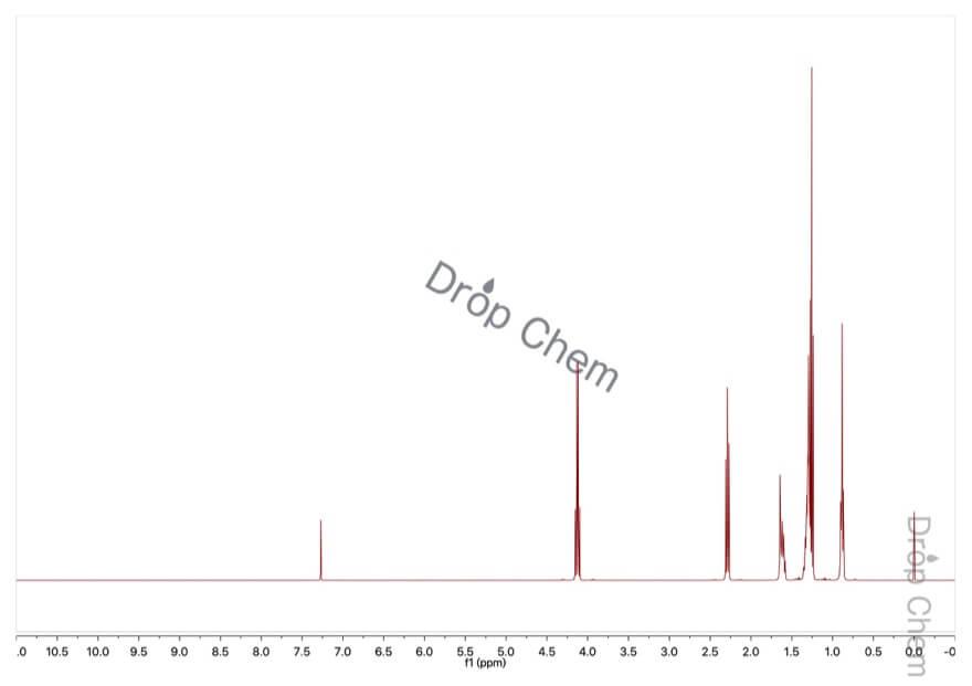 ヘプタン酸エチルの1HNMRスペクトル
