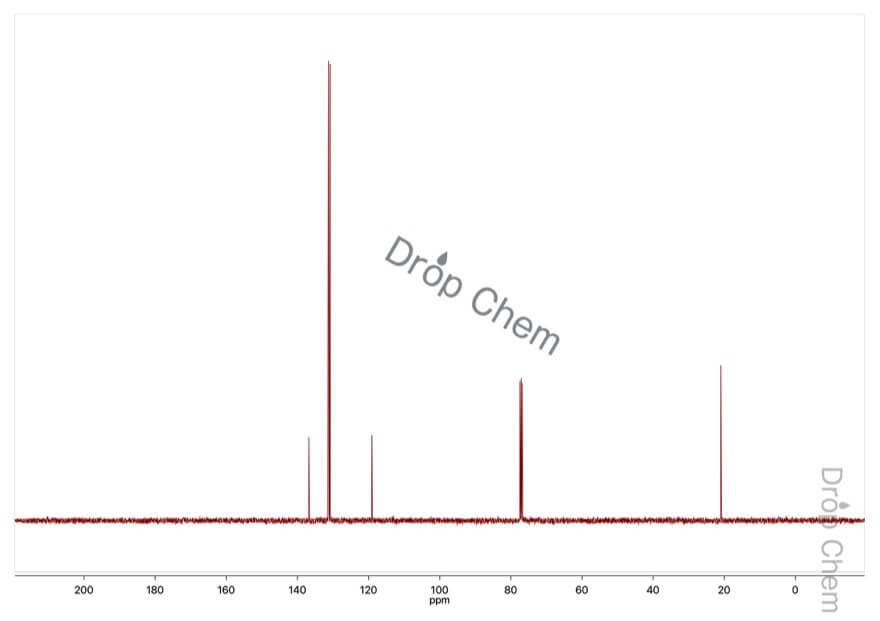 4-ブロモトルエンの13CNMRスペクトル