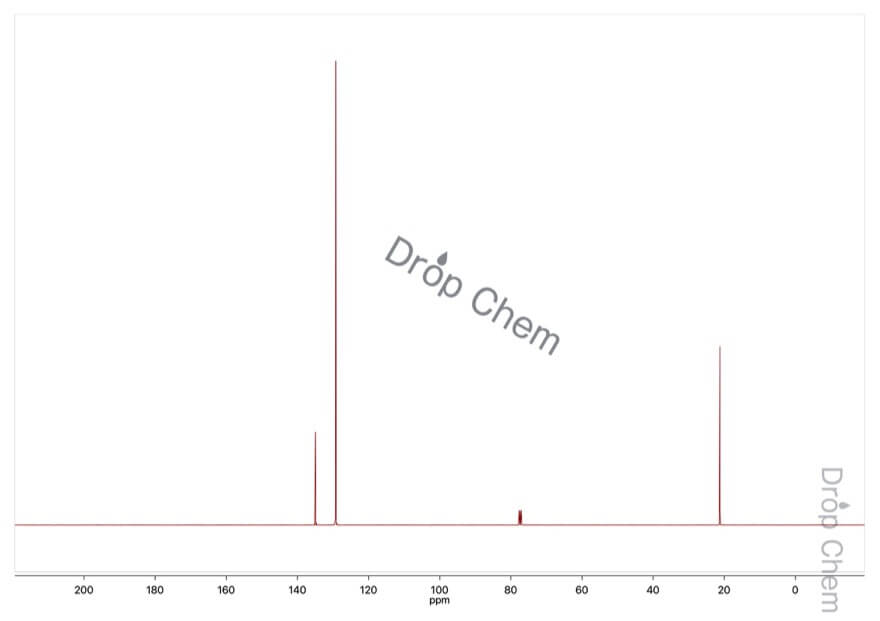 p-キシレンの13CNMRスペクトル
