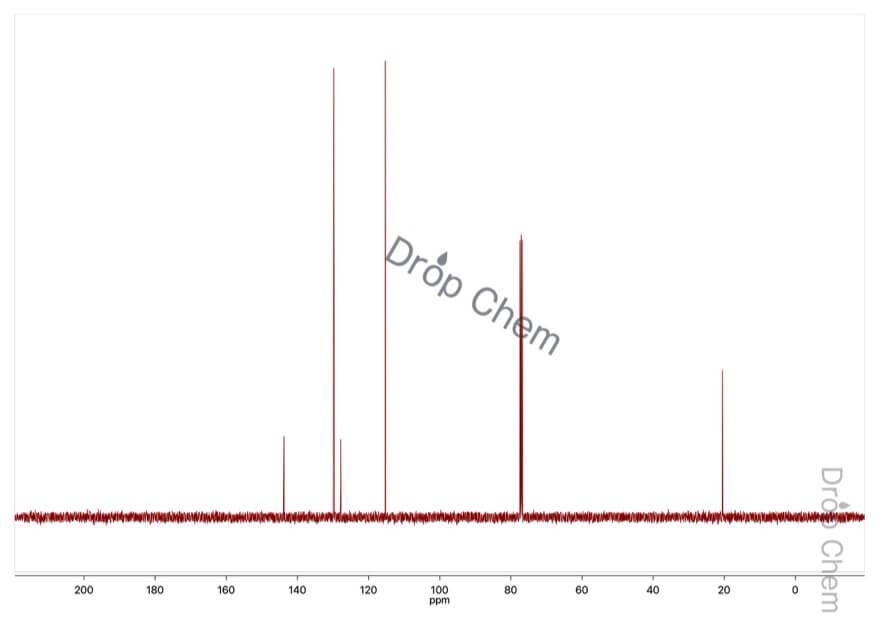 p-トルイジンの13CNMRスペクトル