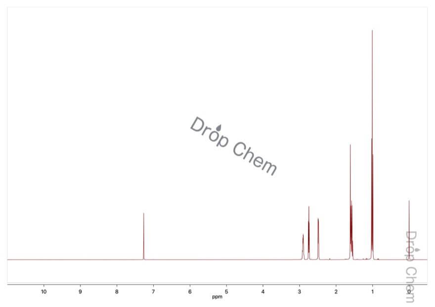 1,2-ブチレンオキシドの1HNMRスペクトル