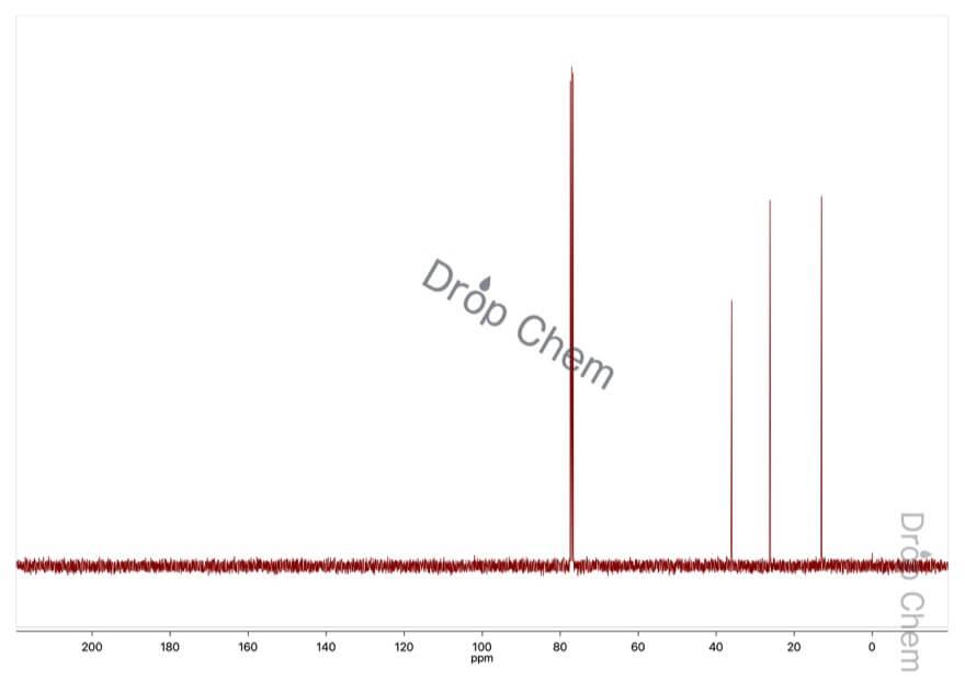 1-ブロモプロパンの13CNMRスペクトル