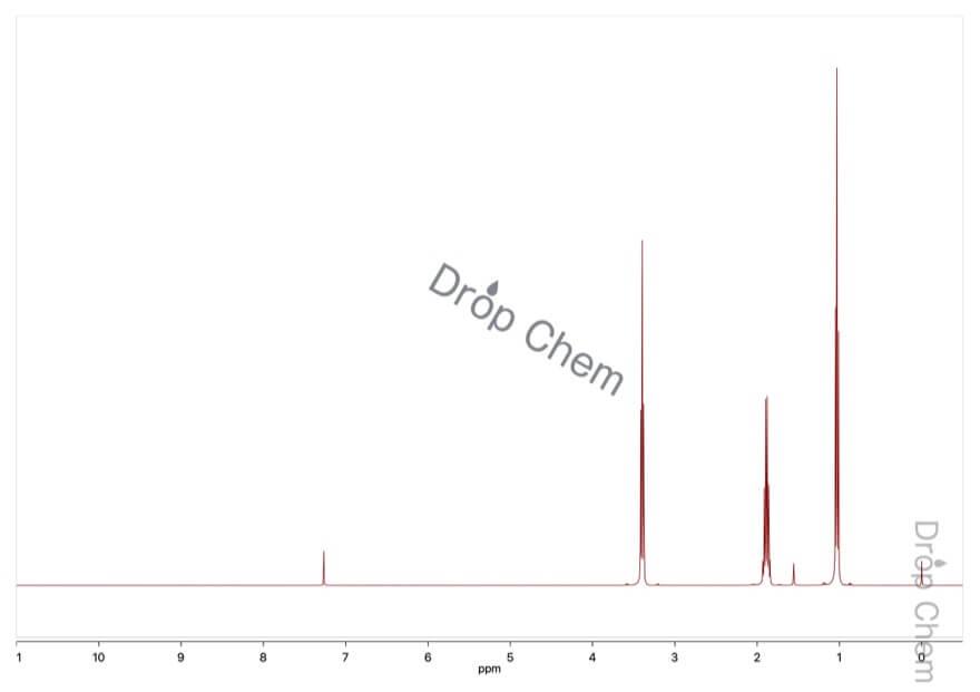1-ブロモプロパンの1HNMRスペクトル