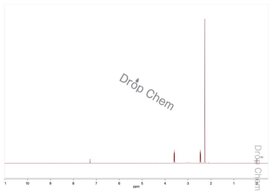 2-(ジメチルアミノ)エタノールの1HNMRスペクトル