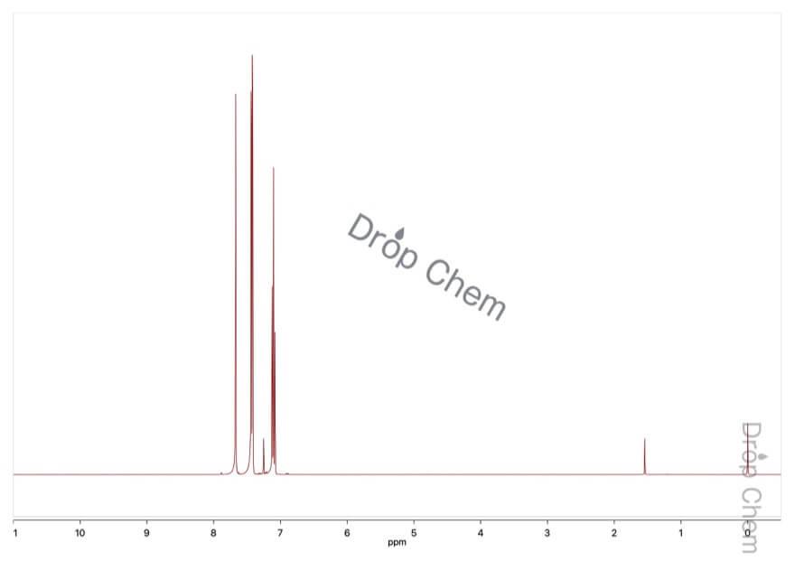 1,3-ジブロモベンゼンの1HNMRスペクトル