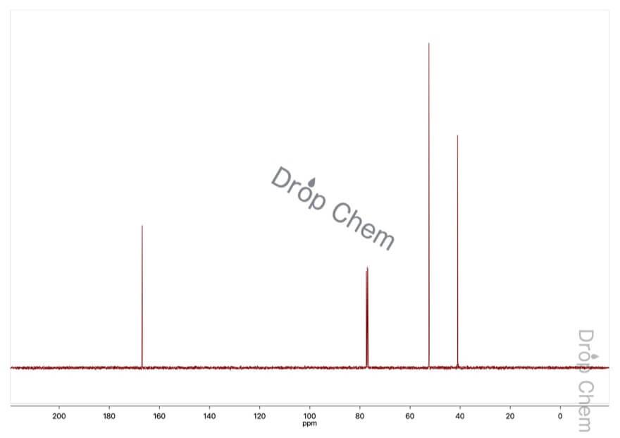 マロン酸ジメチルの13CNMRスペクトル
