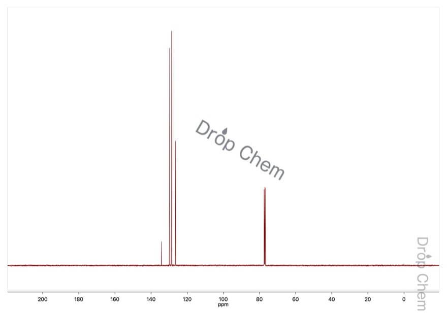 クロロベンゼンの13CNMRスペクトル