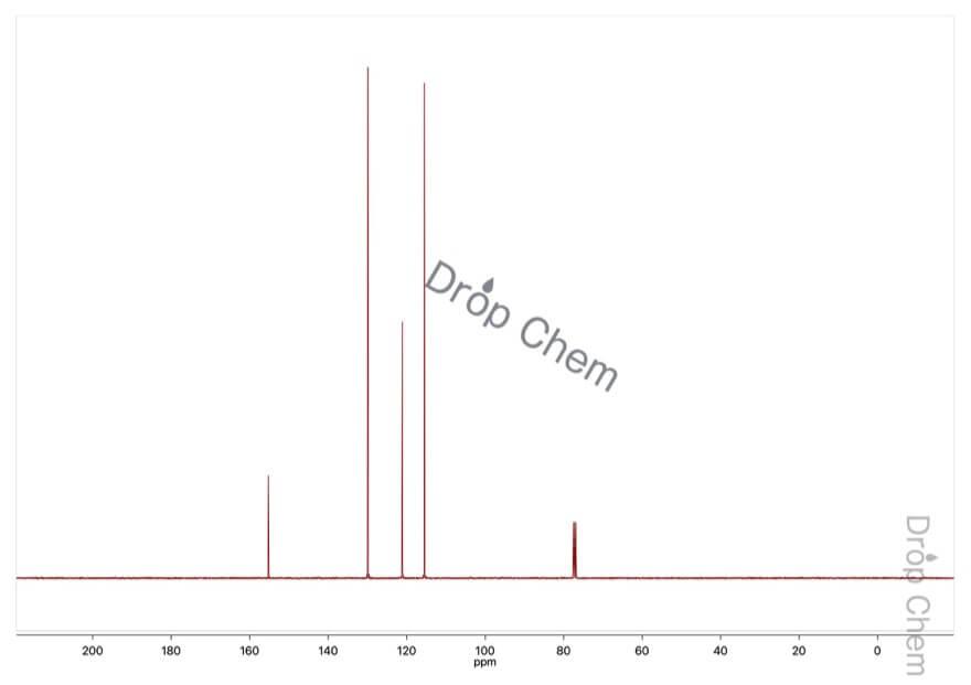 フェノールの13CNMRスペクトル