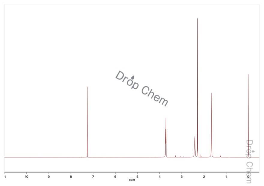 4-メチルモルホリンの1HNMRスペクトル