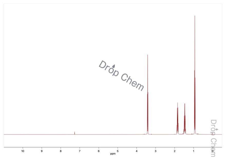 1-ブロモブタンの1HNMRスペクトル
