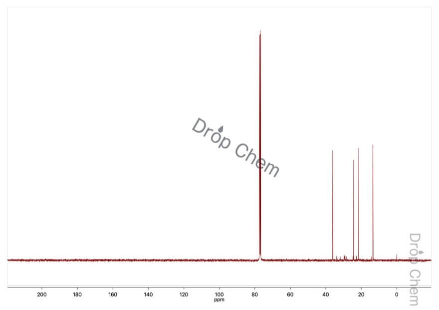 1-ブタンチオールの13CNMRスペクトル