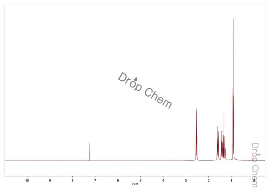1-ブタンチオールの1HNMRスペクトル