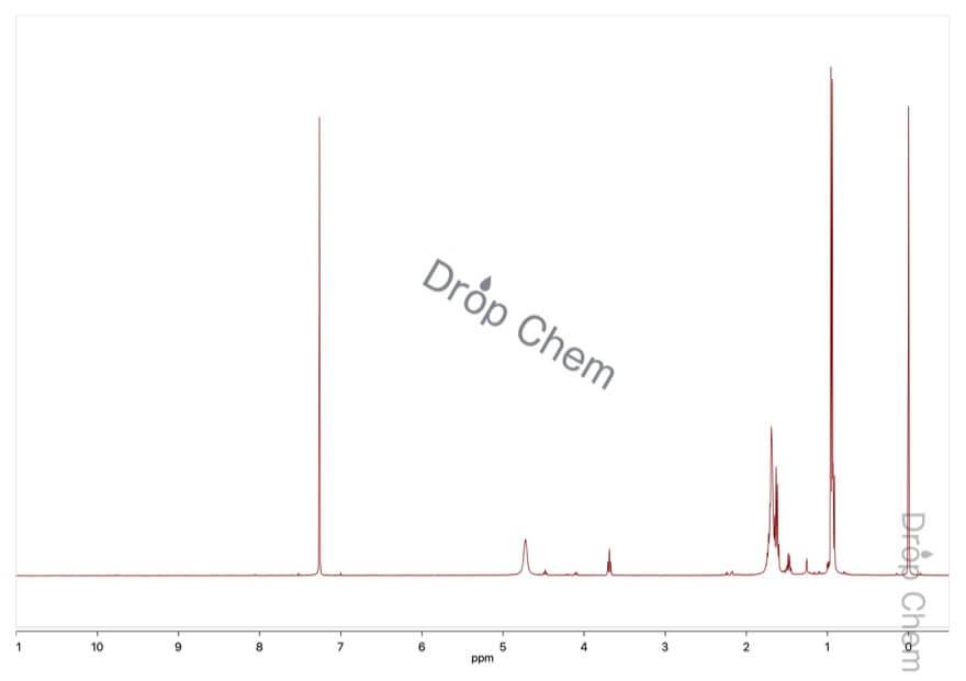 亜硝酸イソアミルの1HNMRスペクトル