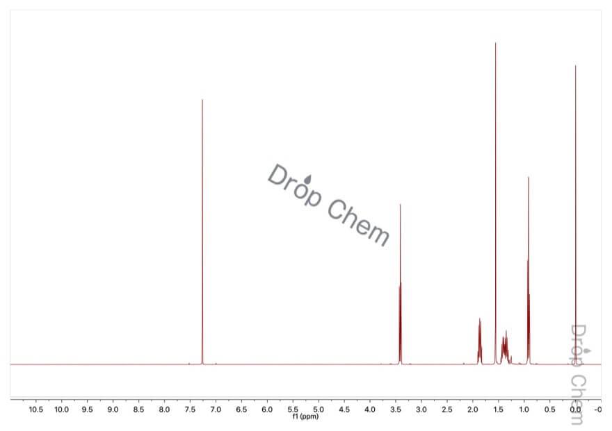 1-ブロモペンタンの1HNMRスペクトル