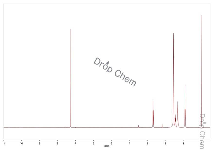1-アミノペンタンの1HNMRスペクトル