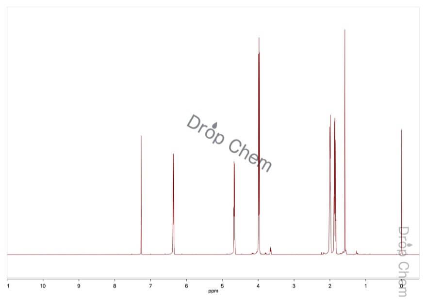 3,4-ジヒドロ-2H-ピランの1HNMRスペクトル