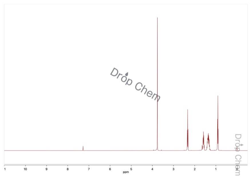 2-オクチン酸メチルの1HNMRスペクトル