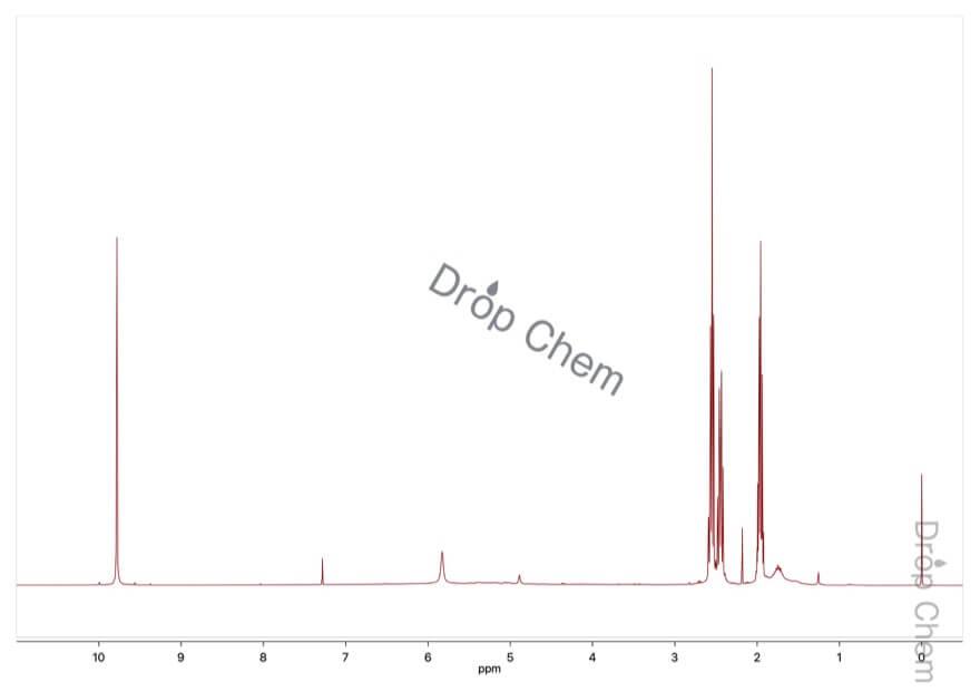 グルタルアルデヒドの1HNMRスペクトル