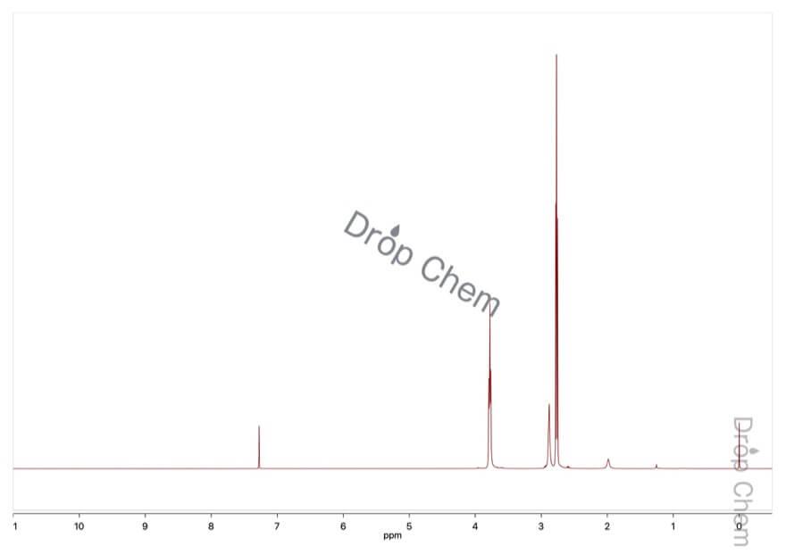 2,2'-チオジエタノールの1HNMRスペクトル