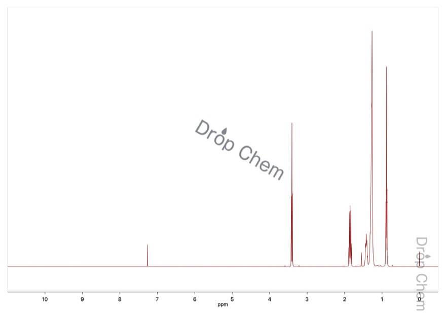 1-ブロモデカンの1HNMRスペクトル