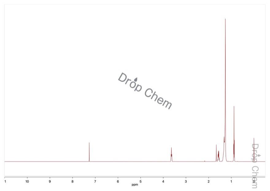 1-ドデカノールの1HNMRスペクトル