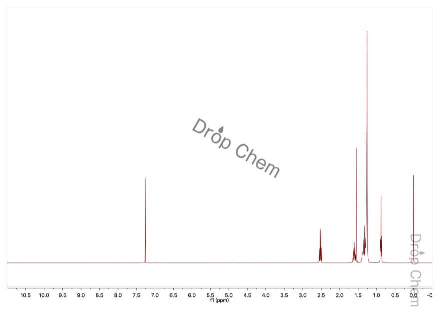 1-ドデカンチオールの1HNMRスペクトル