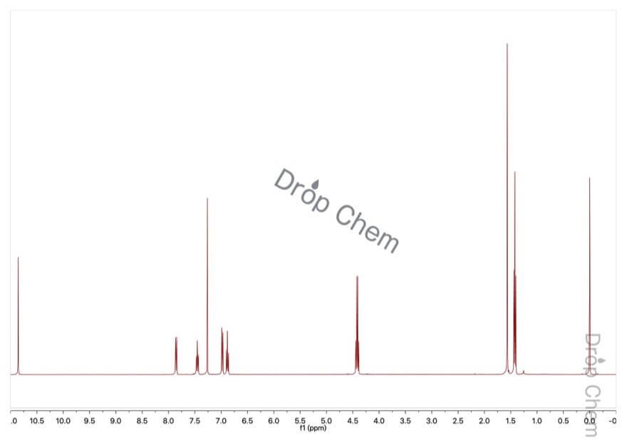 サリチル酸エチルの1HNMRスペクトル