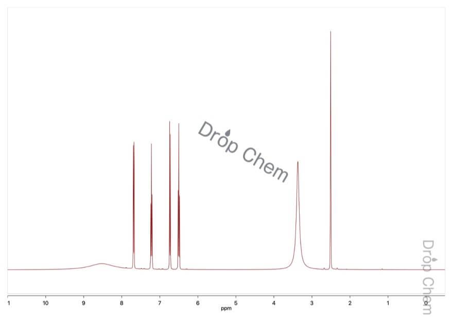 アントラニル酸の1HNMRスペクトル