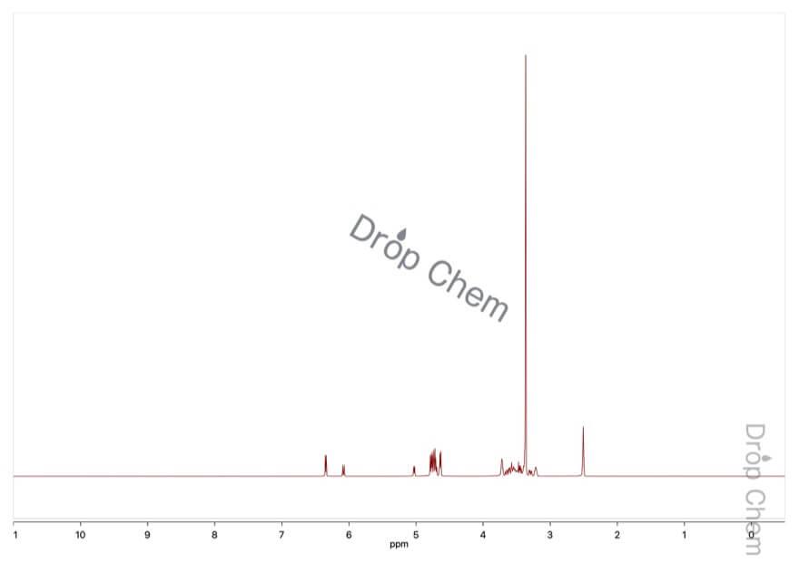 D-(-)-リボースの1HNMRスペクトル